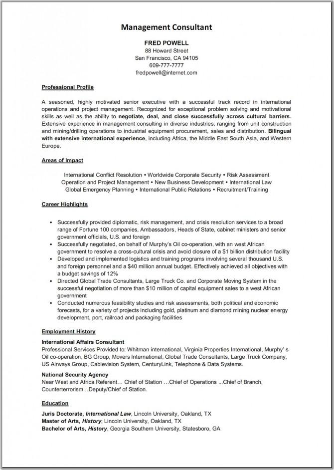 Resume Samples: Social Work Consultant Resume