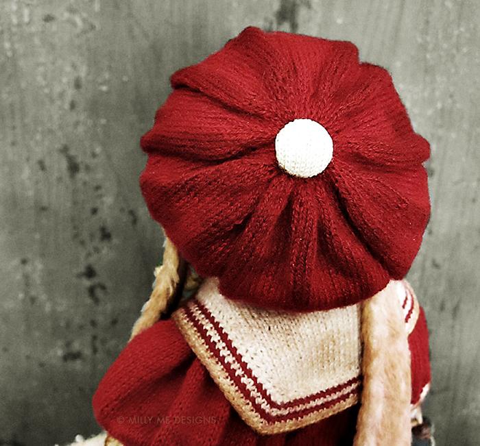 vintage rabbit, knitted barret