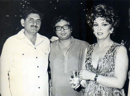 Anand Bakshi, RD Burman and Lollobrigida