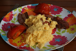 Daddy cooked breakfast