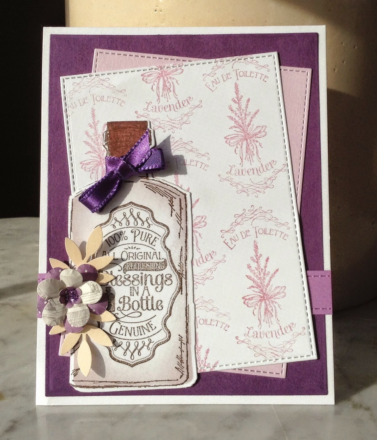 ODBD Lavender, ODBD Joy in a Jar, ODBD Custom Apothecary Bottles Dies, Our Daily Bread designs Customer Card of the Day by Birgit