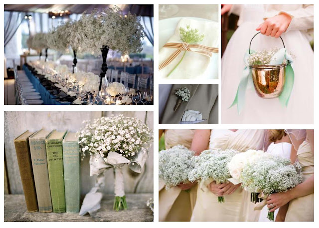 baby's breath centerpieces, bridesmaids bouquets