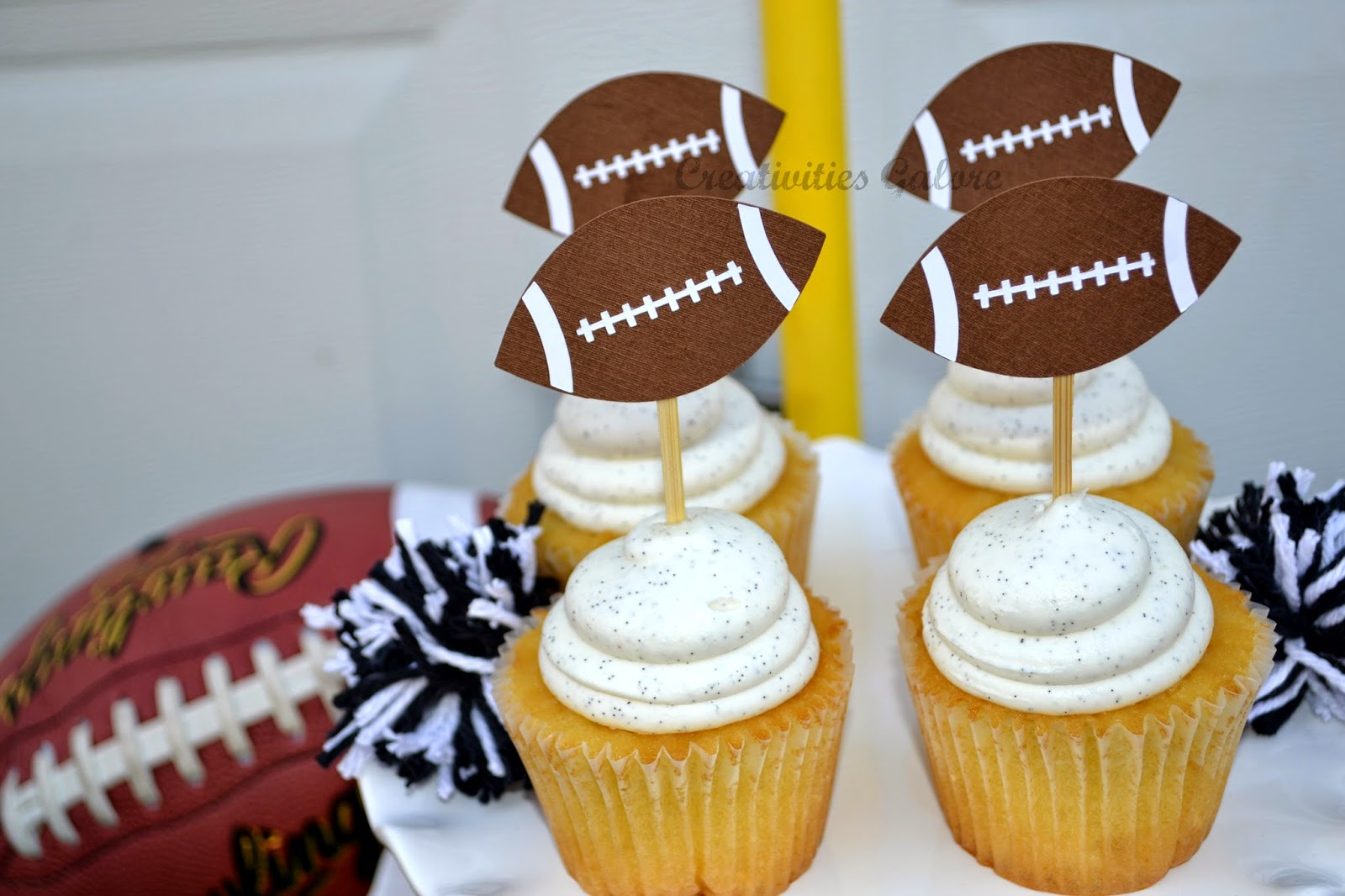 Creativities Galore:: Football Cupcake Toppers