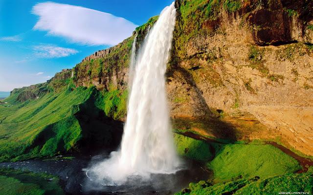 Big waterfall nature wallpaper