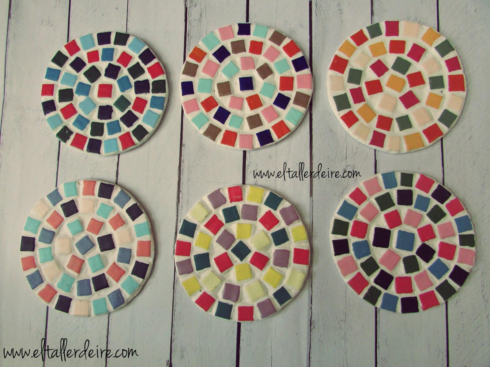 C mo hacer posavasos redondos con mosaicos el taller de ire - Como hacer posavasos ...