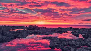 Impresionante puesta de sol costa
