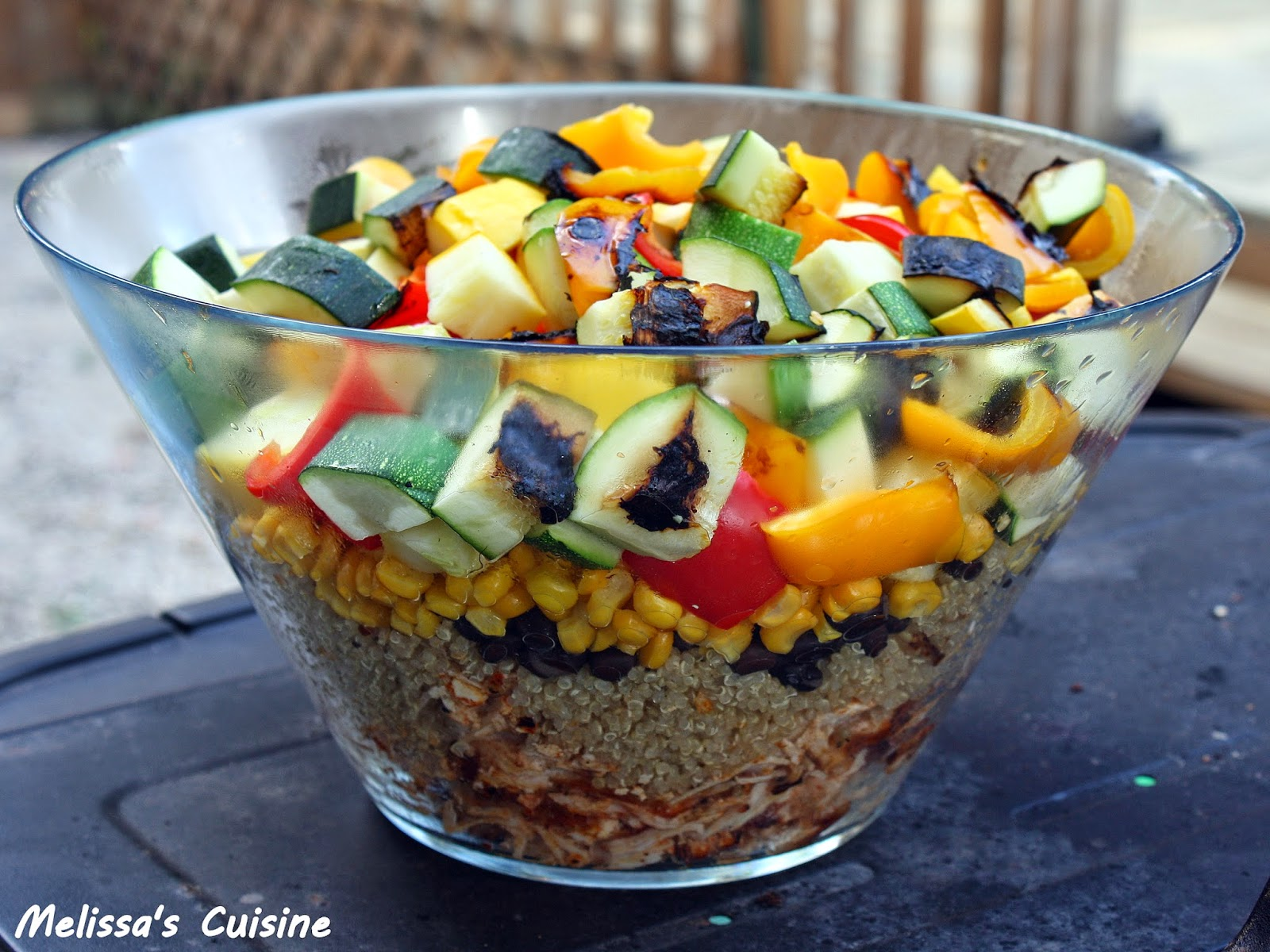 Melissa's Cuisine: Buffalo Chicken & Grilled Vegetable Quinoa Salad