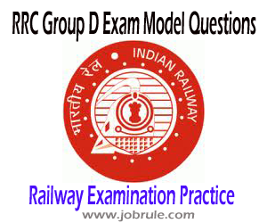 Railway Recruitment Cell (RRC) Group D Examination Solved Model/Sample Questions for Online Practice 2013-2014