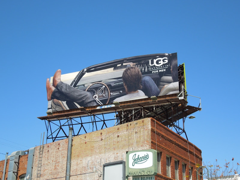 UGG for Men convertible billboard
