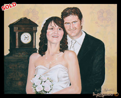 Wedding Portrait by Ingrid Sylvestre - Durham North East UK
