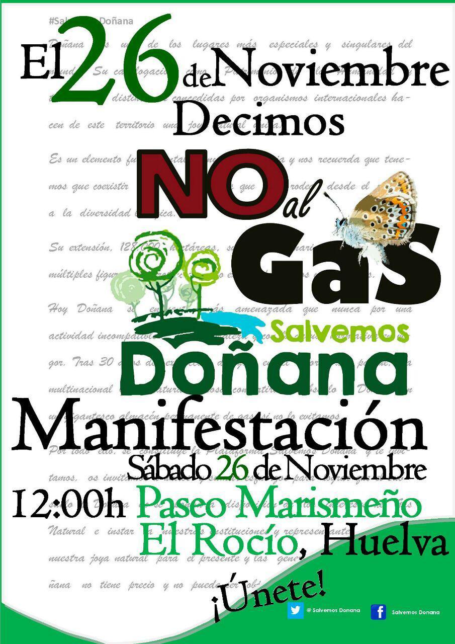 MANIFESTACIÓN 26N. DECIMOS:NO AL GAS,SALVEMOS DOÑANA