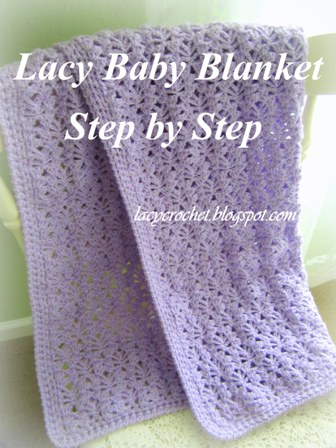 Lacy Crochet Lacy Baby Blanket Tutorial Step 60 Enchanting Lacy Baby Blanket Crochet Pattern