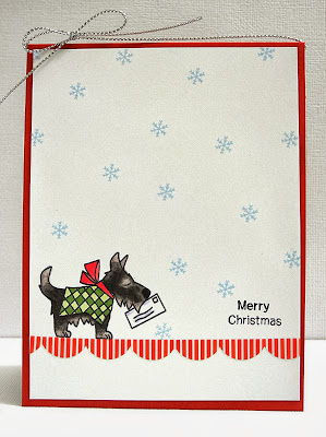 Dog Christmas card by Jennifer Ingle for Newton's Nook Designs