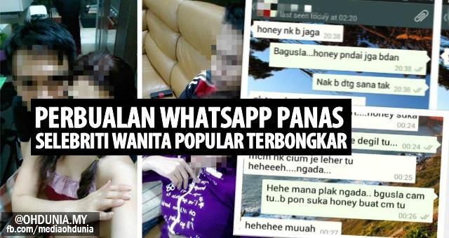 Perbualan Whatsapp panas selebriti wanita popular dengan lelaki misteri
