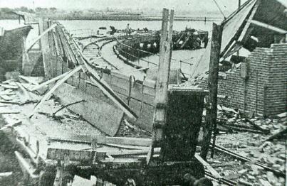 Explosion at Bedenham 1950