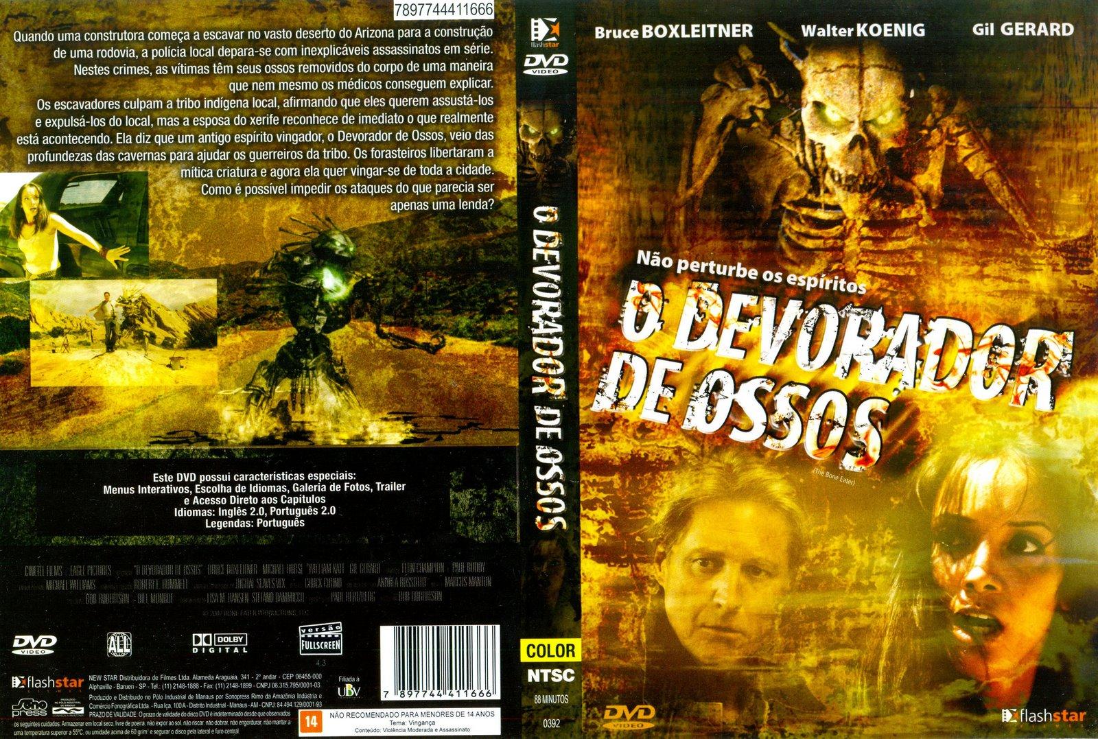 O Devorador de Ossos DVD Capa