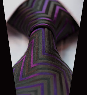 TG4001P Purple Black Geometric Woven Classic 100%Silk Man's Tie Necktie