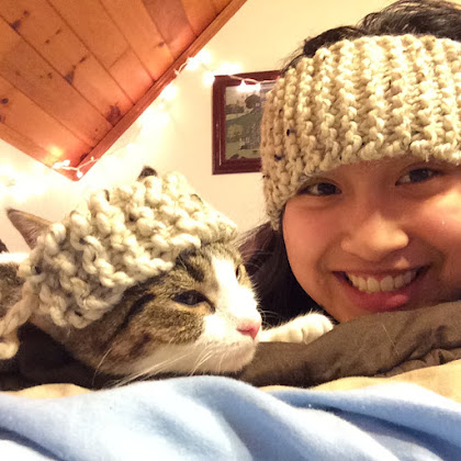 This is me and my cat Nina