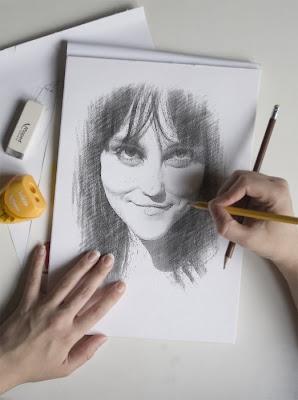 Retrato a lápiz gratis