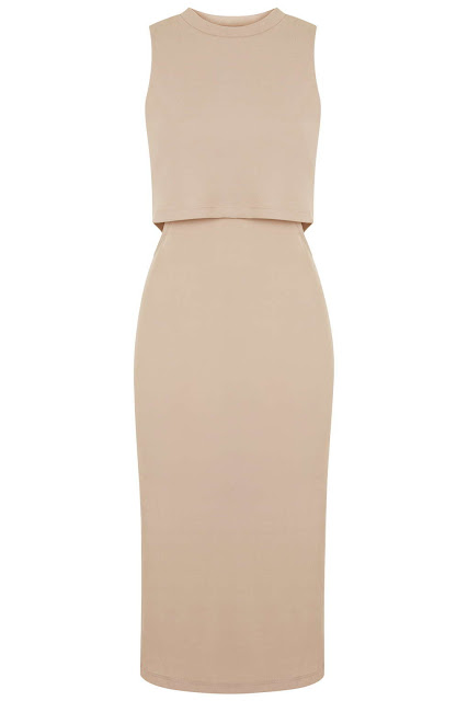 layered nude dress, layered dress topshop,
