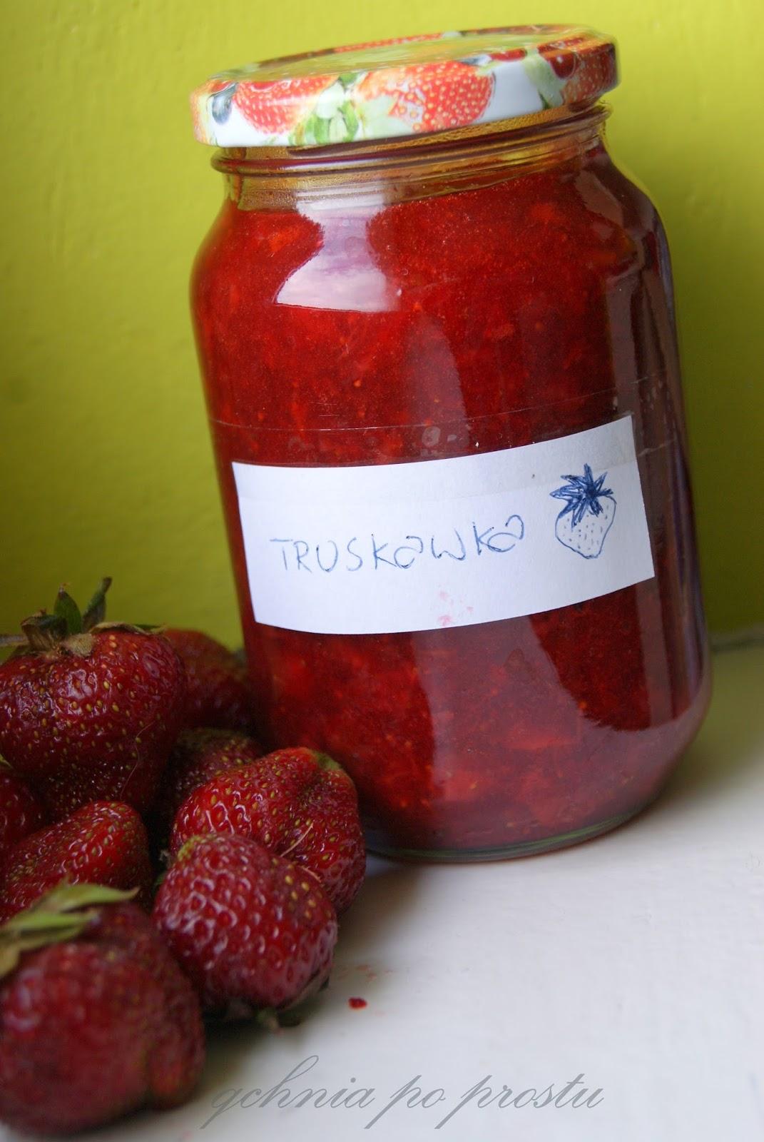 Qchnia po prostu Dżem truskawkowy z cynamonem -> Qchnia U Orzecha