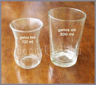 resep gelas 1 gelas 200 ml 1 2 gelas 100 ml gelas teh dalam resep