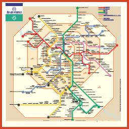 plan du réseau Île-de-France - miniature