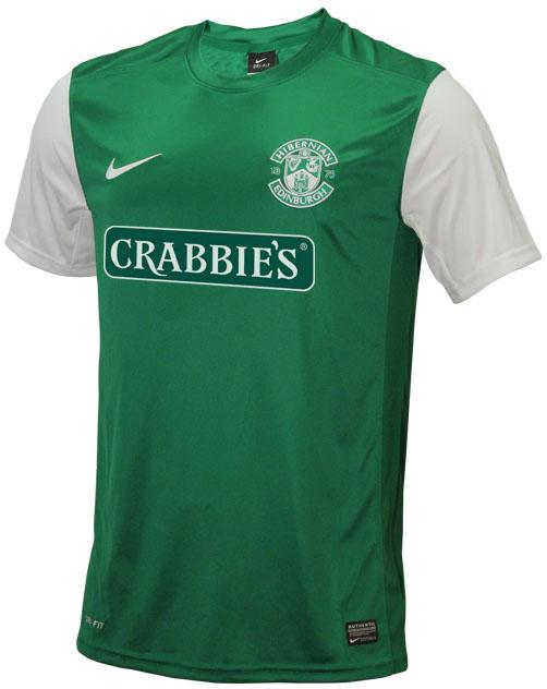 Hibernian FC 13 14 Home Kit