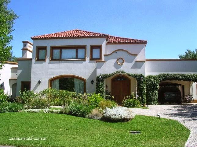 Arquitectura de casas casa estilo colonial espa ol moderno for Fachadas de casas estilo rustico moderno