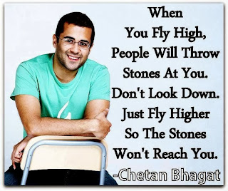 When you fly high, people will throw stones at you. Don't look down. Just fly higher so the stones won't reach you.