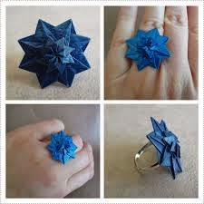 origami star ring