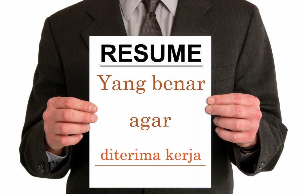cara membuat resume yang benar
