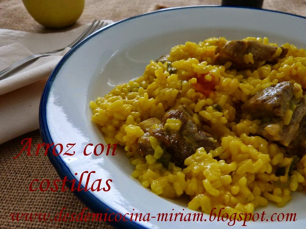 Arroz con costillas,arroz con costillas fussioncook,arroz