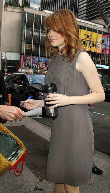Emma Stone - Arriving to Good Morning America in New York