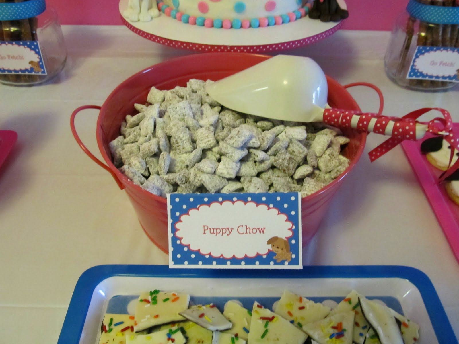 When I Saw This Recipe For Birthday Bark Knew It Had To Make An Appearance At Our Party Another Super Easy