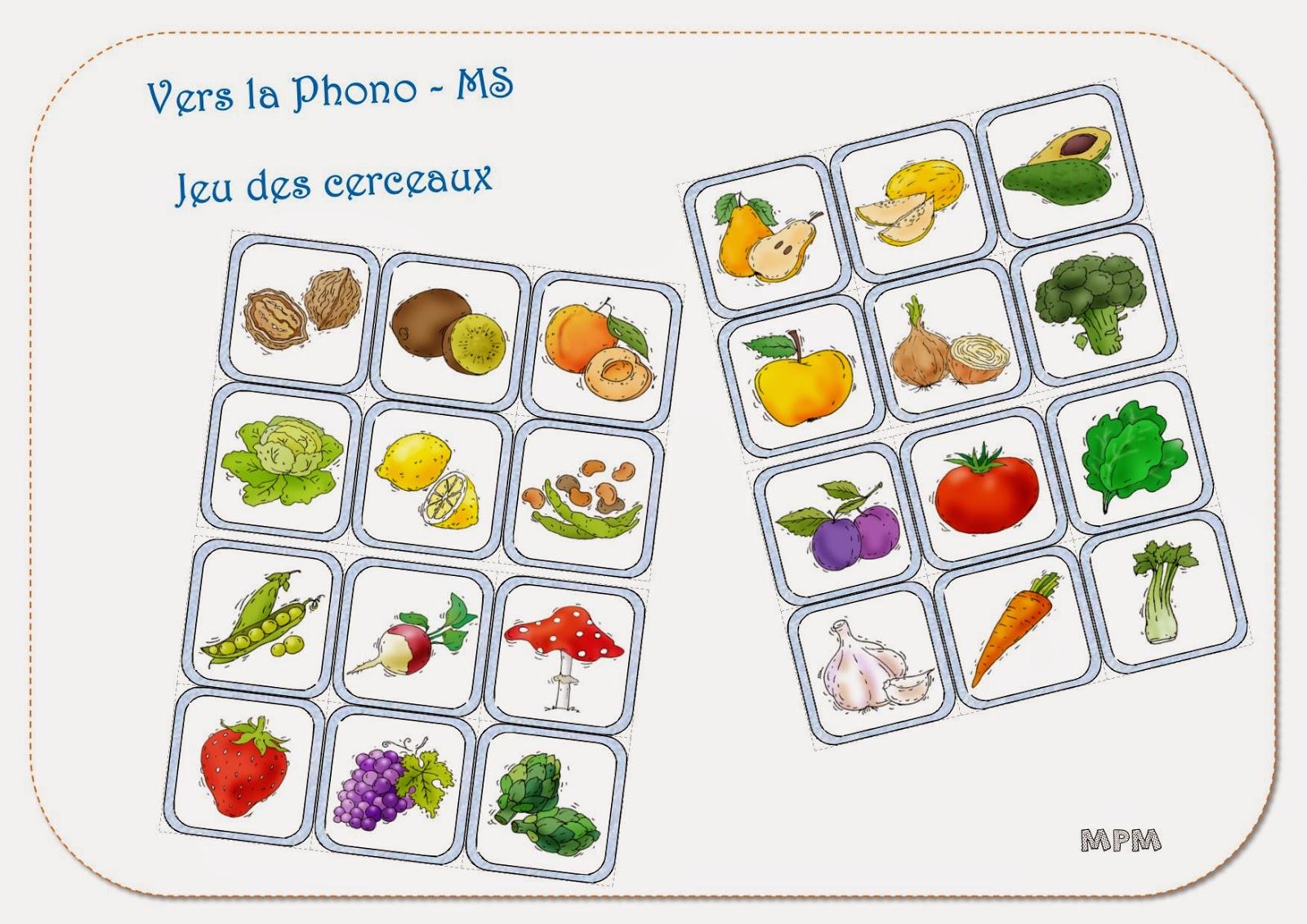Phonologie MS - imagier des fruits et légumes