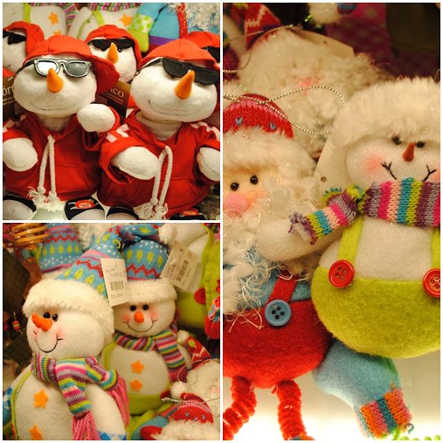 Peluches de muñecos de nieve