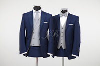 slim blue lounge wedding suit hire from jack bunneys for vintage weddings