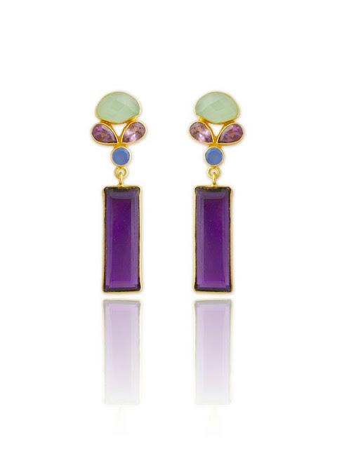 purple earrings, summer jewelry, purple, gemstones