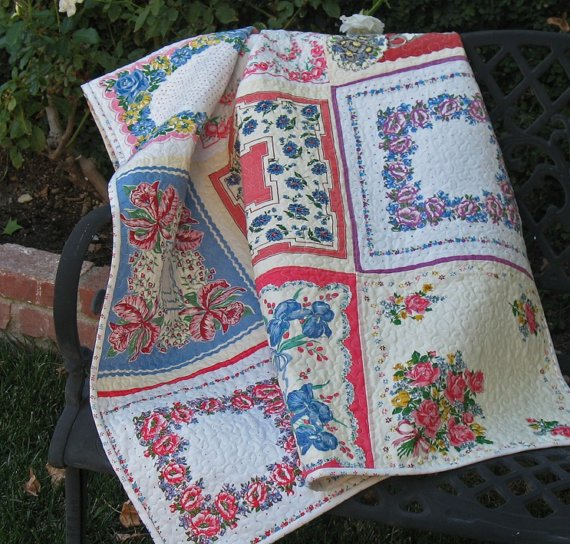 Dishfunctional Designs: Vintage Handkerchiefs & Scarves Upcycled ... : handkerchief quilts instructions - Adamdwight.com