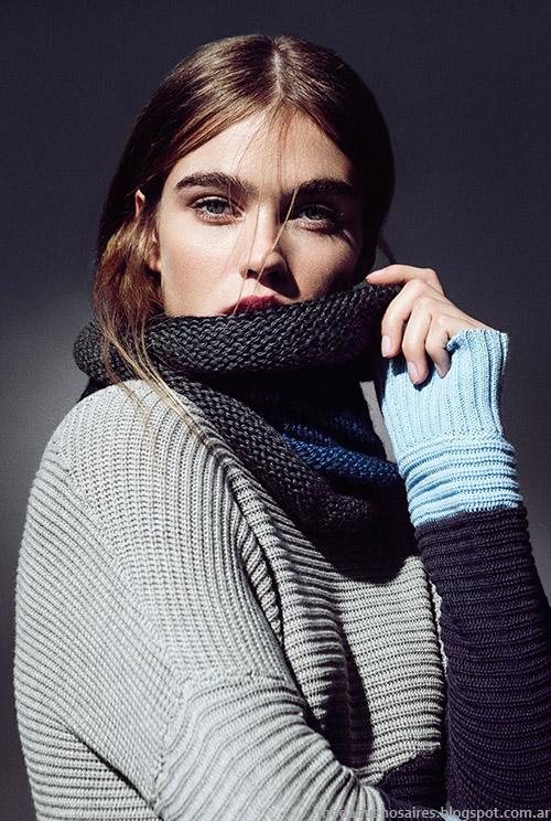 Clara otoño invierno 2015 prendas tejidas.