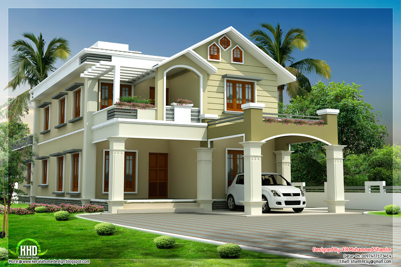 Beautiful two floor house design kerala house design idea 2 floor house