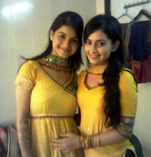 Anjali Abrol and Sambhavi Sharma on the sets of Endemol's Chajje Chajje Ka Pyaar