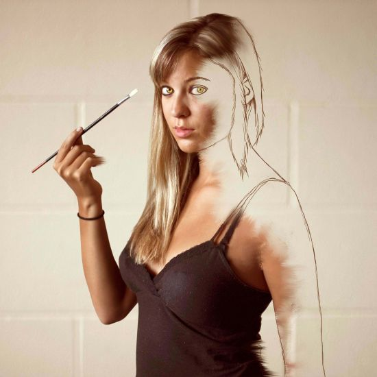Kylie Woon fotografia photoshop surreal solidão melancolia Auto-pintura