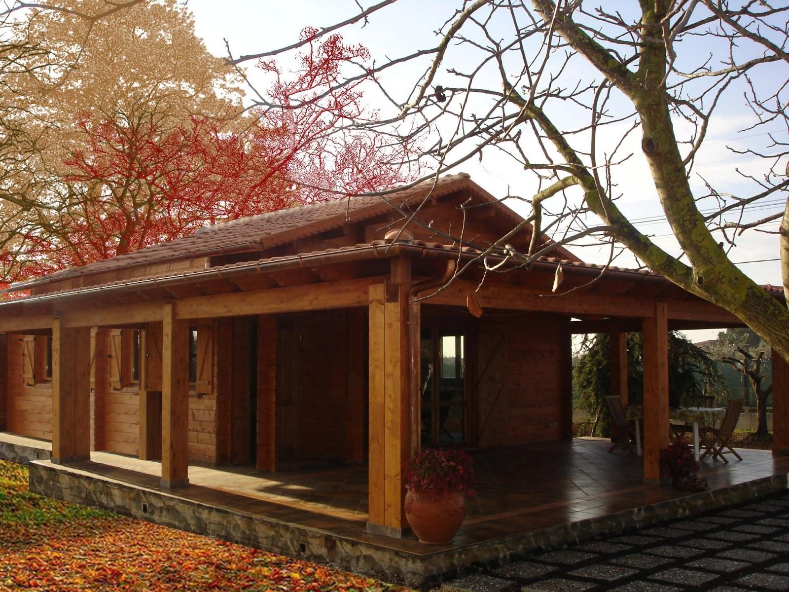 progetti di case in legno casa blockhaus 98 mq portico