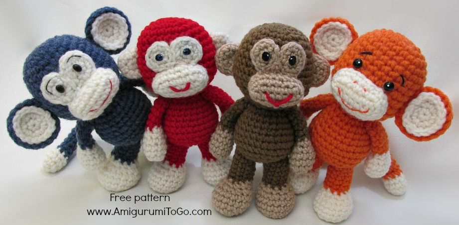 Amigurumi I To Go : Little Bigfoot Monkey Revised Pattern Video Tutorial ...
