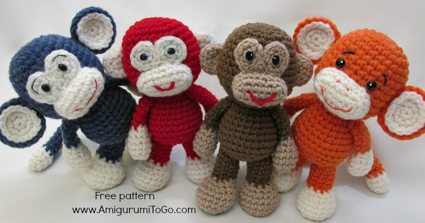 Amigurumi To Go Monkey : Little Bigfoot Monkey Revised Pattern Video Tutorial ...