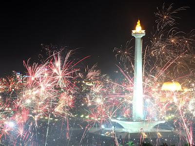 Perayaan Tahun Baru 2012 di Indonesia