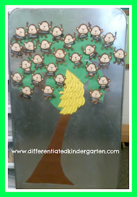 photo of: Differentiated Kindergarten Behavior System with Monkeys in a Tree (Behavior RoundUP via RainbowsWithinReach)