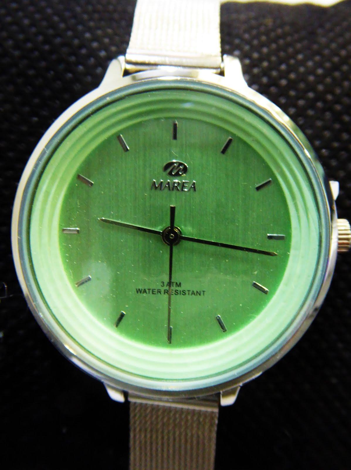 Reloj Marea señora, esfera verde